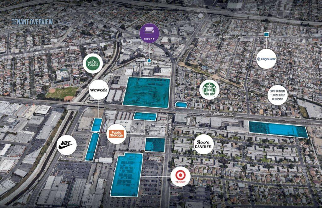 West Adams tenant map